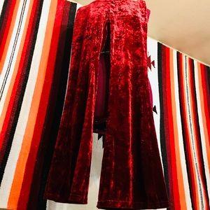 Red velvet bell bottoms!!🔥🔥🔥